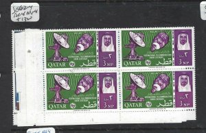 QATAR (P2506BB) ITU    SG 62-4    BL OF 4  MNH