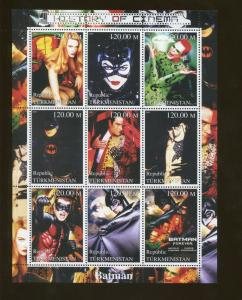 Turkmenistan Batman Forever Cinema Commemorative Souvenir Stamp Sheet