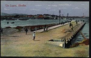 GIBRALTAR c1905 postcard The Lagoon fine unused............................75338