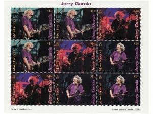 Montserrat - Jerry Garcia 9 Stamp  Sheet  970-2