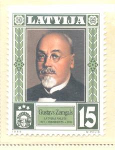 Latvia Sc 497 1999 President Zemgals stamp mint NH