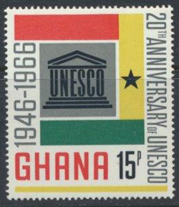 Ghana  SG 436   SC# 265 MLH  UNESCO   1966 see scan