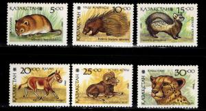Kazakhstan Scott 41-46 MNH** stamp set