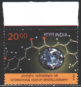 India. 2014. 2812. Crystallography, International Year. MNH.