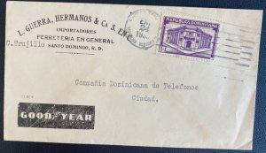 1938 Santo Domingo Dominican Republic Advertising Cover Locally Used