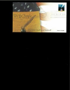 2011 FDC Patriiotic Quill & Inkwell Kansas City MO