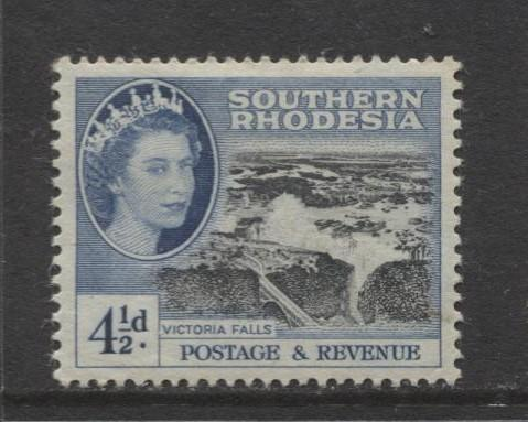 Southern Rhodesia- Scott 86 - QEII Definitives -1953 - MLH- Single 4.1/2d Stamp