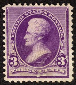 US #221 SCV $275.00 VF/XF mint never hinged, well centered and fresh,  Super ...