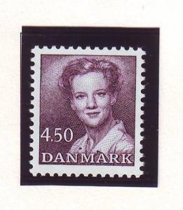 Denmark Sc 896 1990 4.50 kr brown violet Queen stamp mint NH