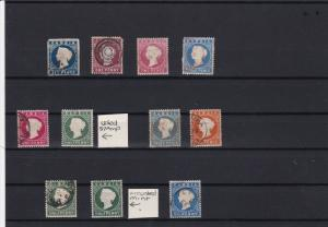 gambia early queen victoria stamps  ref r12510