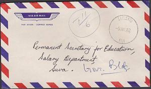 FIJI 1982 taxed cover SAVUSAVU cds to Suva.................................54477