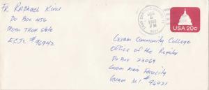 Caroline Islands 20c Capitol Dome Envelope 1983 Truk Caroline Islands TT 9694...
