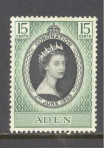 Aden  Sc # 47 mint hinged (RS)