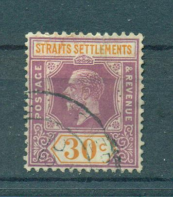 Straits Settlements sc# 195 used cat value $1.50