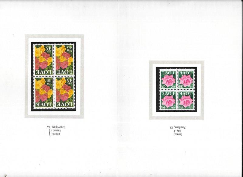 US#2378-2379 $0.25 &$0.45 Blocks of 4 in folder  (MNH) CV$5.75