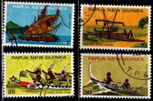 PNG Papua New Guinea Scott 406-409 Used Canoe set 1975