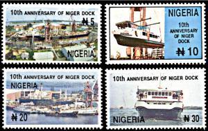 Nigeria 665-668, MNH, 10th anniversary of Niger Dock