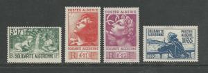 Algeria Scott catalogue #B47-B50 Unused Hinged Faults