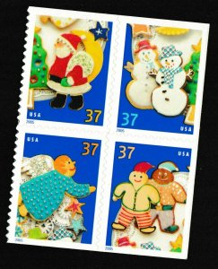 US 3953-3956 3956a Holiday Cookies 37c block set (4 stamps) MNH 2005