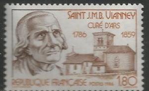 FRANCE 2011 MNH, SAINT J.M.B. VIANNEY , CURE OF ARS