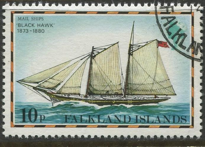 Falkland Is.- Scott 269 - Ships Issue - 1978 - VFU - Single 10p Stamp