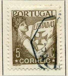 PORTUGAL;   1931 early ' Luciad ' issue fine used value 5c.