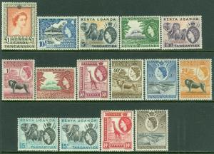 EDW1949SELL : KENYA U & T 1954-59 Scott #103-17 Very Fine, Mint OGH Catalog $148