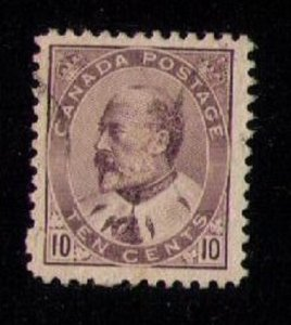 CANADA Sc 93 Lilac Brown Used F-VF