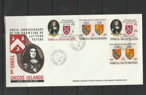 Turks & Caicos Islands 1970 FDC, letters patent, Grand Turk cds, Crown agents im