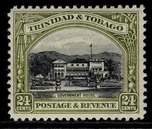TRINIDAD & TOBAGO GV SG236, 24c black & olive-green, NH MINT. Cat £10.