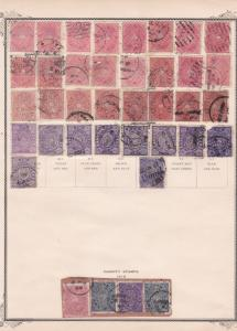 travancore stamps on album  page ref r9009