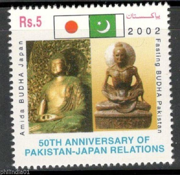 Pakistan 2002 Pak - Japan Diplomatic Relations Budhha Flags Sc 987 MNH # 13576