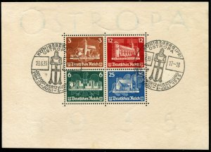 Deutsches Reich   Sc.# B68    First Day Cancell    Rare in this Condition