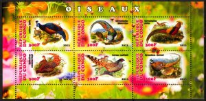 Congo 2013 Paradise Birds (6) MNH Cinderella !