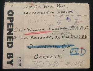 1941 Aberdeen Scotland to Oflag 7 D Germany POW Camp Cover Prisoner of War