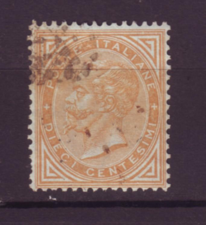 J20069 jlstamps 1863 italy used #27 king