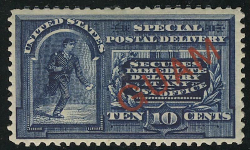 Guam E1 VF OG VLH, well centered, Choice! ww1826