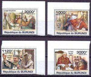 Burundi. 2011. Pope. MNH.