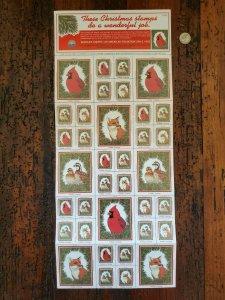 US 1985 National Wildlife Federation Mint Cinderella Stamp Sheet OG NH