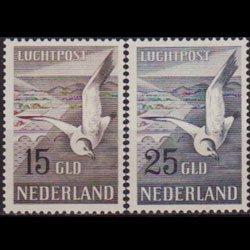 NETHERLANDS 1951 - Scott# C13-4 Seagull Set of 2 LH