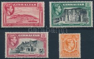 Gibraltar stamp George VI -Landscape set 4 diff stamps 1938 MNH WS221966
