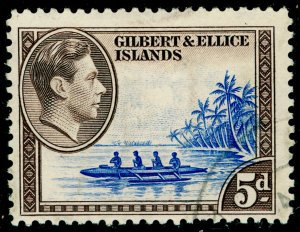 GILBERT AND ELLICE ISLANDS SG49, 5d dp ultram & sepia, FINE USED.