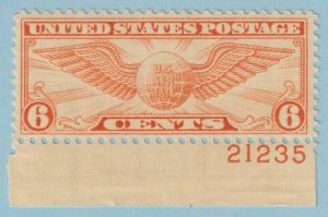 UNITED STATES C19 AIRMAIL PLATE NUMBER SINGLE MINT NEVER HINGED OG ** EXTRA FINE