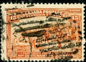 CANADA #102 15¢ POSTAGE USED CV $125 BN2135