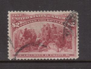 USA #242 VF Used With Face Free Cancel