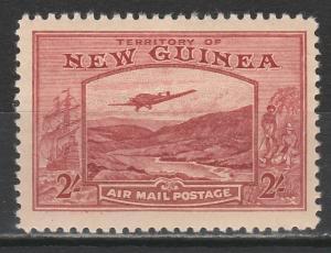 NEW GUINEA 1939 BULOLO AIRMAIL 2/- MNH **
