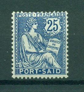 French Offices in Egypt Port Said sc# 26 mh cat val $2.75