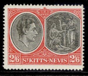 ST KITTS-NEVIS GVI SG76a, 2s 6d black & scarlet, M MINT. Cat £30. CHALKY