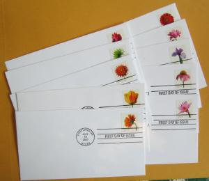 United States #4176-85 FDC Flowers