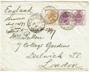 Orange Free State 1897 Ficksburg cancel on cover to England